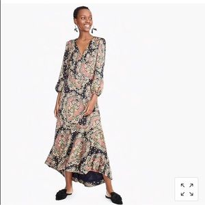 NWT Point Sur long-sleeve Paisley dress